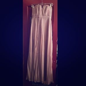 Nadia Long Gown - Silk Chiffon in Dusty Thistle